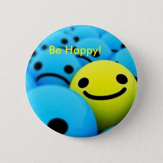 smiley, ist glücklich! runder button 5,7 cm