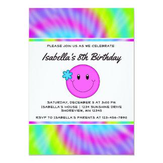 Smiley-Krawatten-Geburtstags-Einladungen Karte