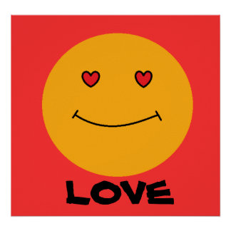 Smiley-Liebe Poster