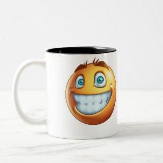 smiley lustig zweifarbige tasse