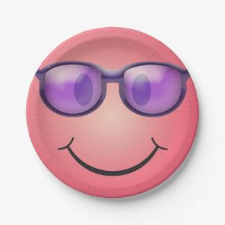 Smiley mit Gläsern Pappteller