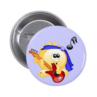 Smiley-Musik-Gitarrist Runder Button 5,1 Cm