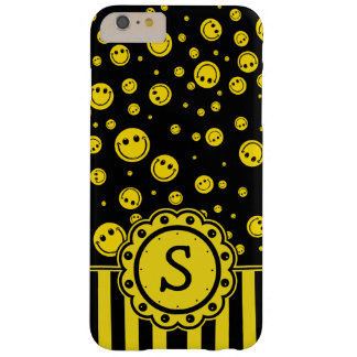 Smiley-Punkt-Monogramm Barely There iPhone 6 Plus Hülle