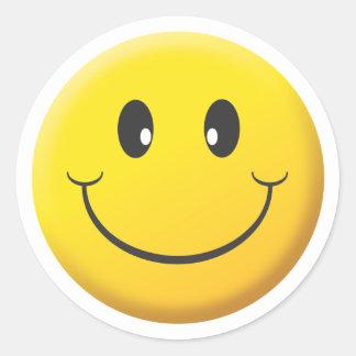 Smiley Runder Aufkleber
