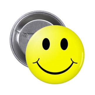 Smiley Runder Button 5,7 Cm