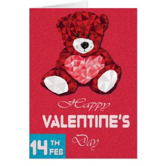 Smiley-Teddybär-Valentinstagpostkarte Karte