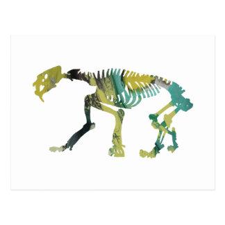 Smilodon Skelett Postkarte
