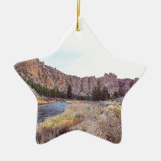 Smith-Felsen-Biegung Oregon Keramik Ornament