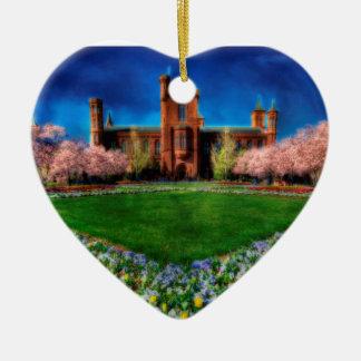 Smithsonian-Schloss-Garten-Kirschblüten Keramik Ornament