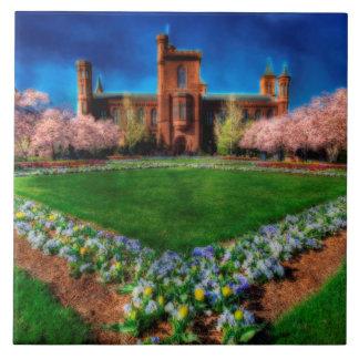 Smithsonian-Schloss-Garten-Kirschblüten Keramikfliese