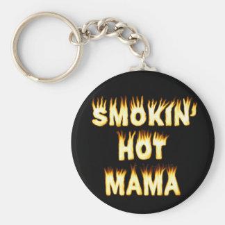Smokin heiße Mutter Funny Mother Flames Schlüsselanhänger