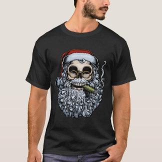 Smokin Sankt Schädel T-Shirt