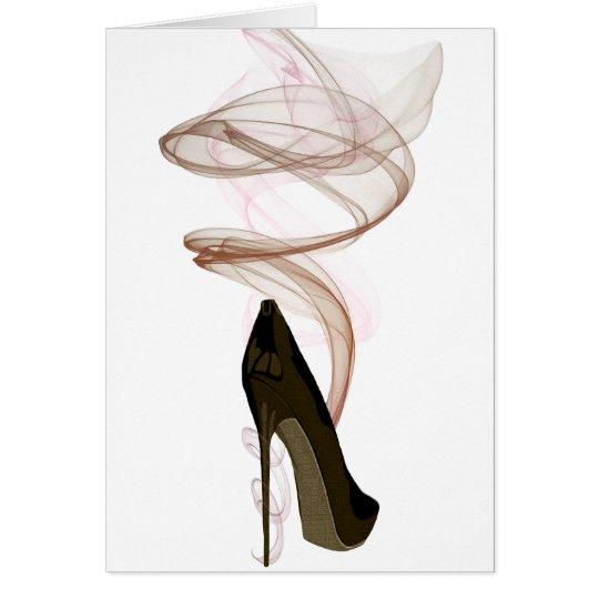 Smokin Stilett-Schuh-Kunst Grußkarte