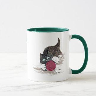 Smokings-Kätzchen hat etwas Weihnachtsspaß Tasse