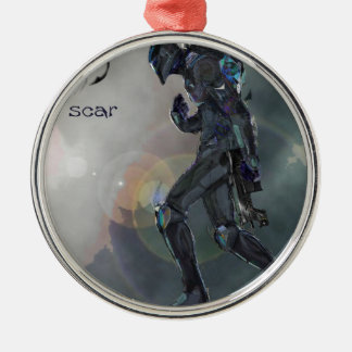S'nake Pic gab… acht Rundes Silberfarbenes Ornament
