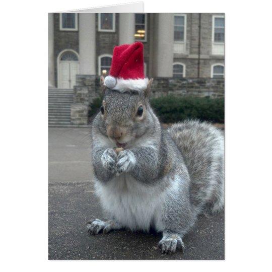 Sneezy die Eichhörnchen-Weihnachtskarte Karte