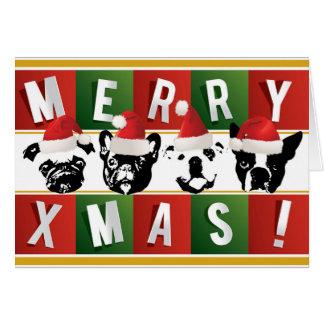 """SNORT Weihnachtskarte (Klein5,6"""" x 4"""") Karte"""