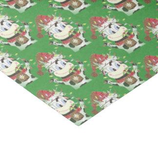Snowbell das Kuh Weihnachtsgrün-Seidenpapier Seidenpapier
