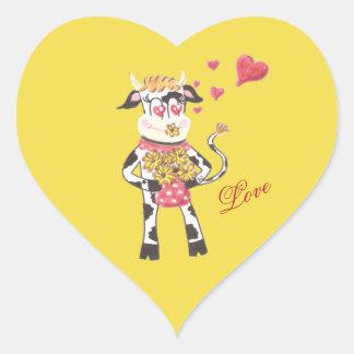 Snowbell die Kuh, in der Liebe, gelbe