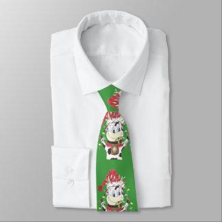 Snowbell die Kuh u. das Weihnachten beleuchtet Individuelle Krawatten