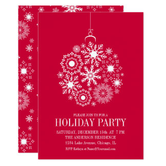 Snowflake Ornament Christmas Holiday Party Card Karte