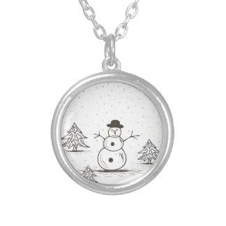 snowman2 versilberte kette