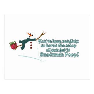 Snowman kacken postkarte