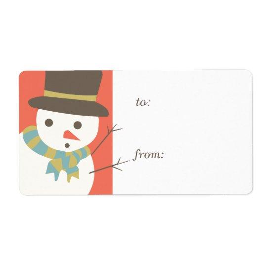Snowman-Party-Geschenk-Umbau-Aufkleber