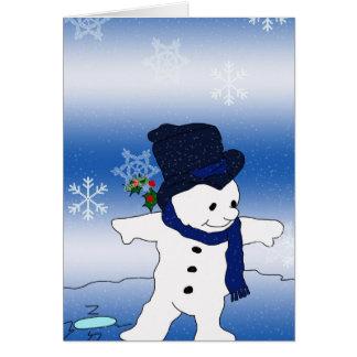Snowman-Skaten Karte