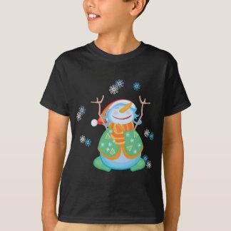 Snowman-T - Shirt für Kinder - Mitternacht