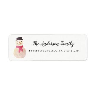 Snowman-WeihnachtsRücksendeadresse-Aufkleber