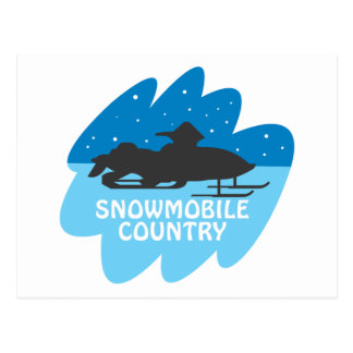 Snowmobile-Land Postkarte