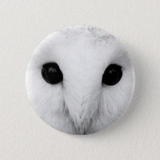 Snowy-Eulen-runder Knopf Runder Button 5,7 Cm