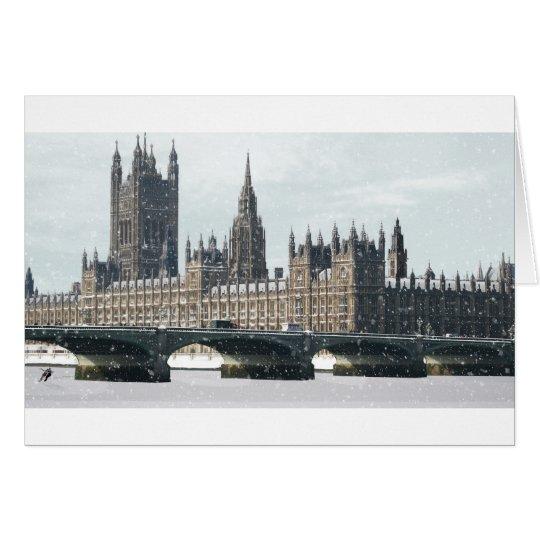 Snowy-Häuser des Parlaments Grußkarte