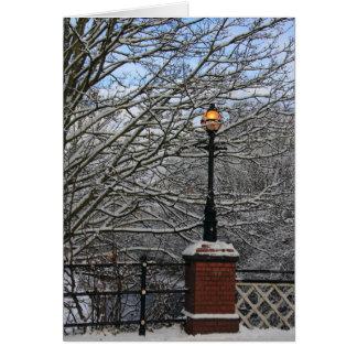 Snowy-Lampen-Karte Grußkarte
