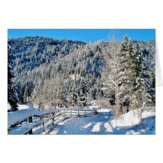 Snowy-Land-Straßen-Weihnachtskarte Grußkarte