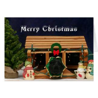 Snowy-Meerschweinchen-Weihnachtskarte Karte