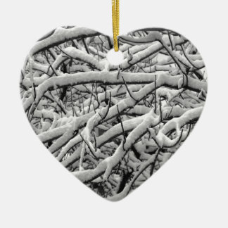 Snowy-Niederlassungen Keramik Ornament