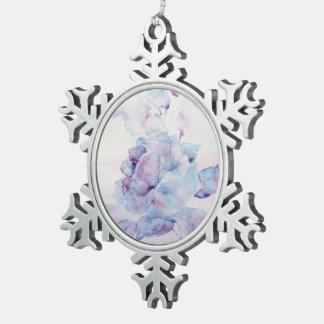 Snowy-Rose Schneeflocken Zinn-Ornament