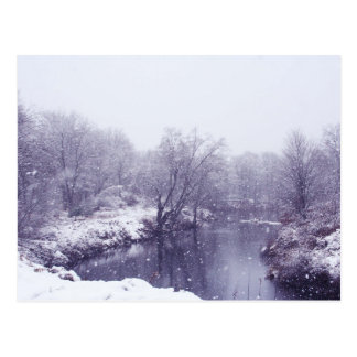 Snowy-Weihnachtspostkarte Postkarte