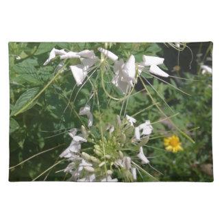 Snowy-Weiß-wilde Blumen durch JanLynn Tischset