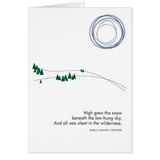 Snowy-Winter-Landschaft mit Baum-Karte Grußkarte