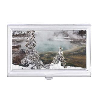 Snowy Yellowstone Visitenkarten Dose