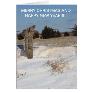 Snowy-Zaun-Linie Weihnachtskarte Karte