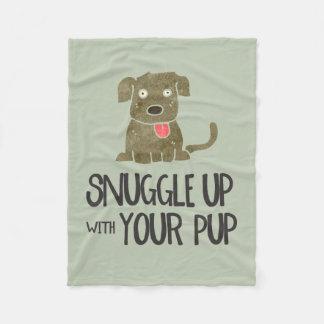 Snuggle oben mit Ihrer Welpen-Fleece-Decke Fleecedecke