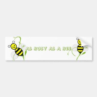 So beschäftigt wie eine Biene Autoaufkleber