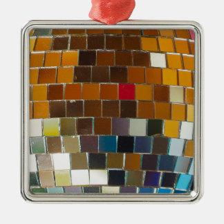 So heiß sind Sie - Disco-Ball cool Quadratisches Silberfarbenes Ornament