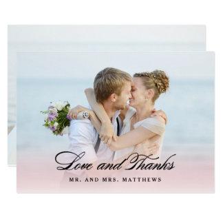 So in der Liebe danken Wedding | Ihnen Foto 12,7 X 17,8 Cm Einladungskarte