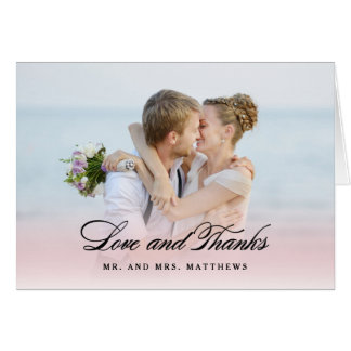 So in der Liebe danken Wedding   Ihnen Foto Karte