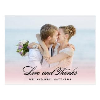 So in der Liebe danken Wedding   Ihnen Foto Postkarte
